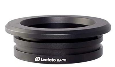 75mm bowl ring for Two vets sporting goods tripods level base. Leofoto BA-75 Bowl 75mm - Sharps Mountain - SharpsMountain.com