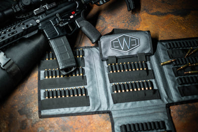 Bag open, loaded with bullets. Walsh Custom Defense - WCD 120 Round Ammo Carrier - Sharps Mountain - Pigg River Precision - sharpsmountain.com