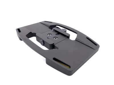 Gun plate with throw latch arca swiss clamp - Gray Ops Mini Plate Pro - Sharps Mountain - SharpsMountain.com