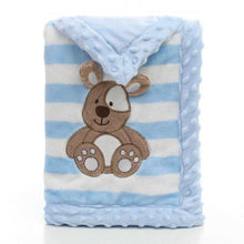 Load image into Gallery viewer, Soft Flannel Baby Blankets | Teal Leto