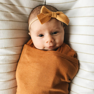 Classic 2-Way Swaddle | Sand | Teal Sooty