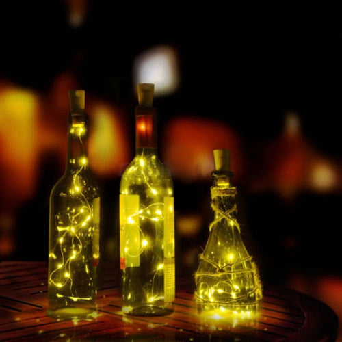 Wine Bottle Cork With A String Of 20 LED Lights | Lime Max