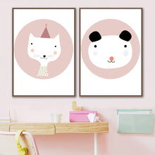 Load image into Gallery viewer, Cartoon Minimalist Wall Decor | Ivory Ariadne