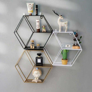 Iron Grid Invisible Shelf | Violet Perseus