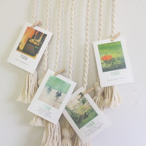 Hanging Woven Photo Rope | Variscite