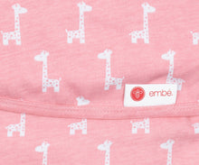 Load image into Gallery viewer, Classic 2-Way Swaddle | Pink Giraffes | Teal Sooty
