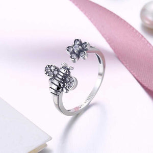 Sterling Silver Swarovski Bumble Bee Adjustable | Silver Misty