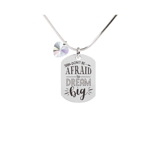 Inspirational Tag Necklace In AB Made With | Sky Blue Lily