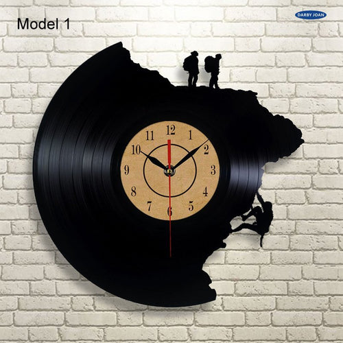 Creative Vinyl Record Climbing Home Wall Clock | Fuchsia Molly