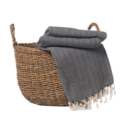 Herringbone Turkish Throw Blanket | Ariel