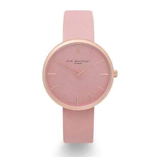 Elie Beaumont Pink Personalised Leather Watch