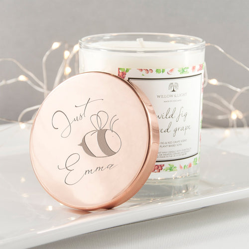 Bee You Candle With Copper Lid