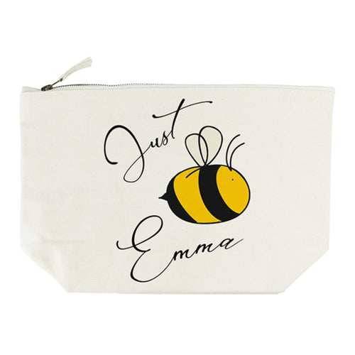 Bee You Cream Makeup Bag