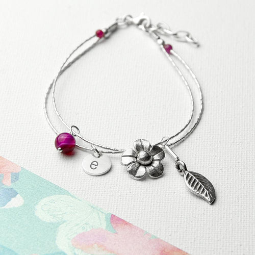 Personalised Forget Me Not Friendship Bracelet