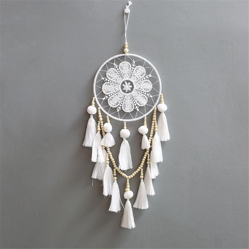 Macrame Wall Hanging Dreamcatcher With Tassels | Petit quelque chose