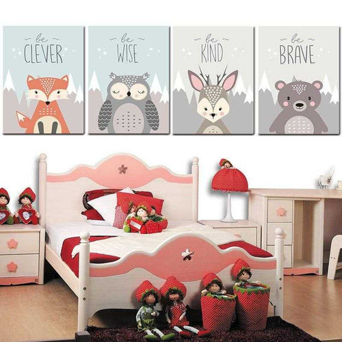 Children's Animal Canvas Prints | Petit quelque chose