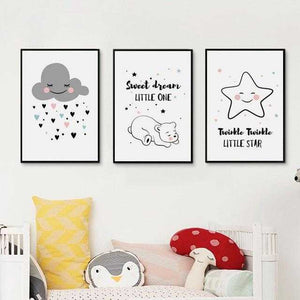 Simple Canvas Prints For The Nursery | Petit quelque chose