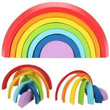 Load image into Gallery viewer, Wooden Rainbow Stacking Toy | Petit quelque chose