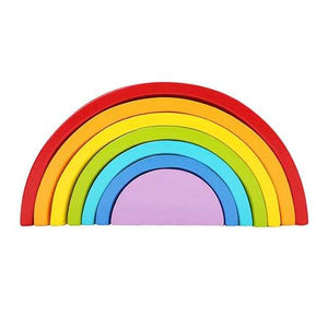 Wooden Rainbow Stacking Toy | Petit quelque chose