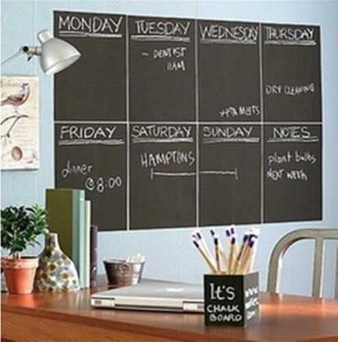 Removable Vinyl Chalk Board Stickers - 3 sizes