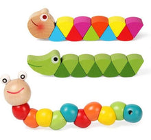 Load image into Gallery viewer, Colorful Wooden Worm Puzzles | Petit quelque chose