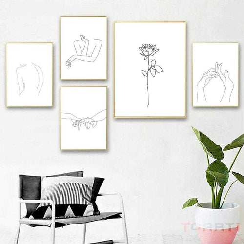 Abstract Women Line Drawing Canvas Prints | Petit quelque chose