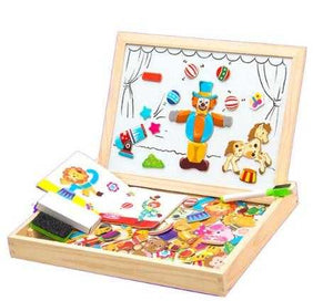 Wooden Magnetic Drawing Set With Stickers | Petit quelque chose