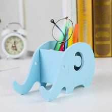 Load image into Gallery viewer, Wooden Elephant Pen Phone Holder  | Petit quelque chose