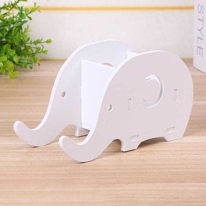Wooden Elephant Pen Phone Holder  | Petit quelque chose