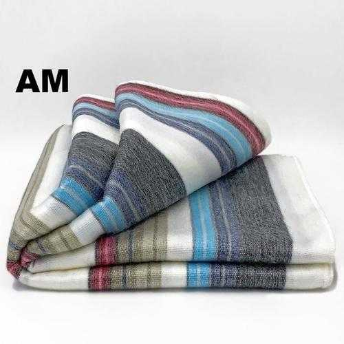 Alpaca Bed Blanket - Striped | Milky Way