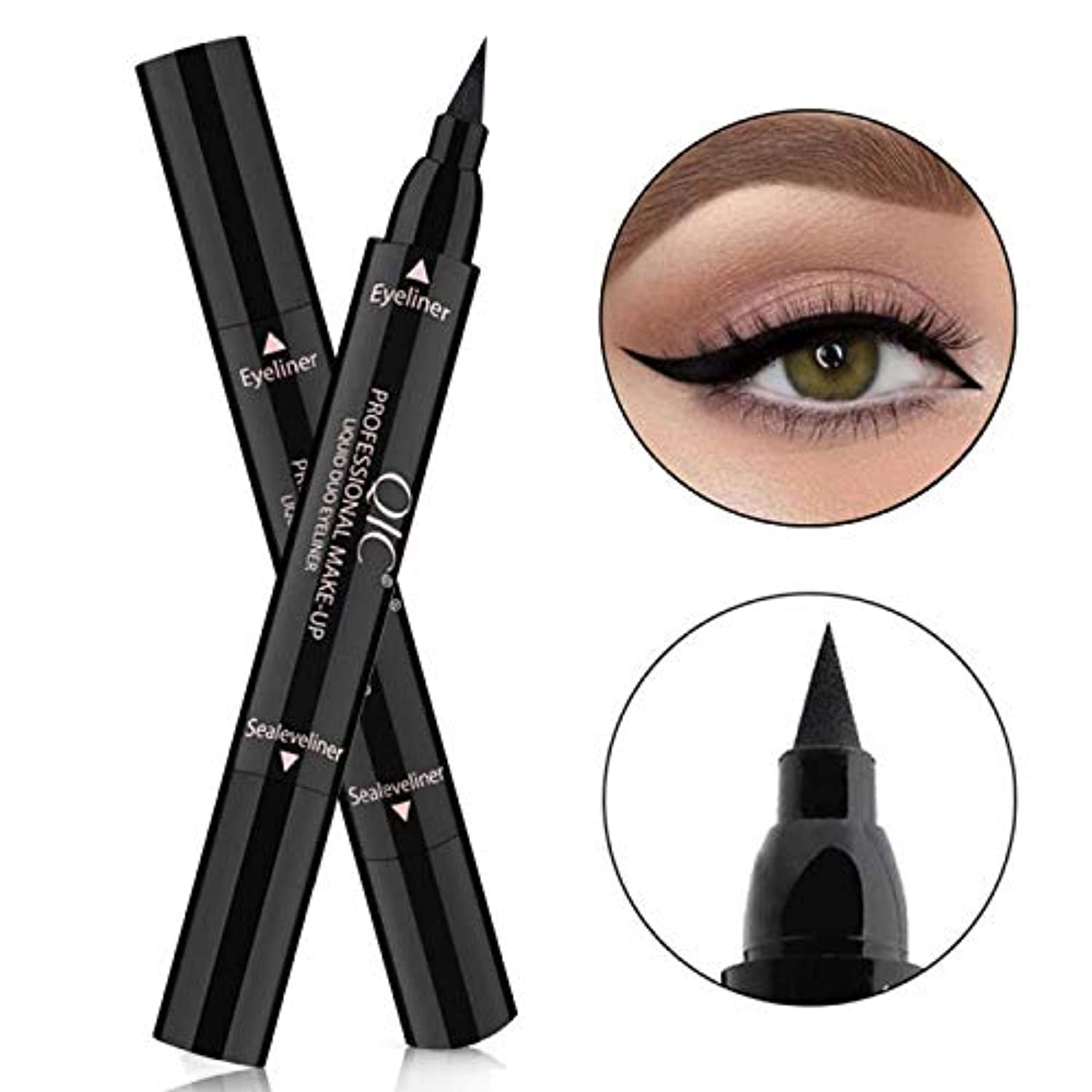 4D Silk Fiber Eye Lash Mascara With Eyeliner Stamp, Liquid Extension - smrt-life.com