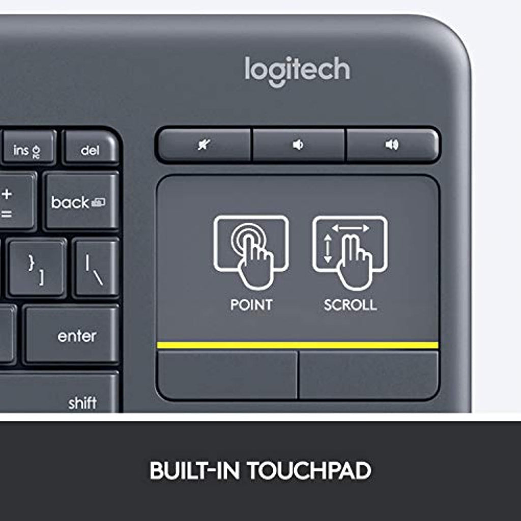 Logitech K400 Plus Wireless Livingroom Keyboard with Touchpad