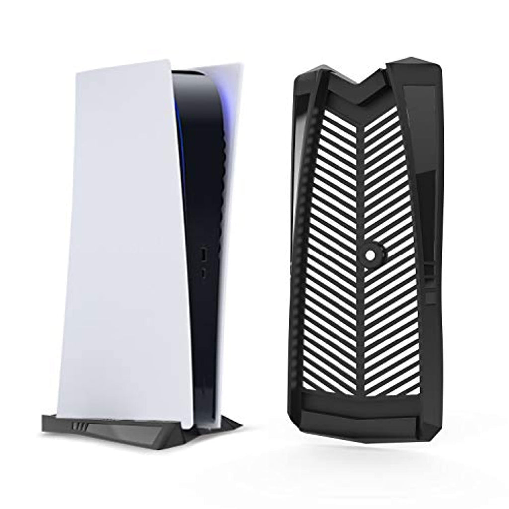PS5 Vertical Stand with Built-in Cooling Vents and Non-Slip Feet, Specially Designed for Digital Edition(Black) - smrt-life.com