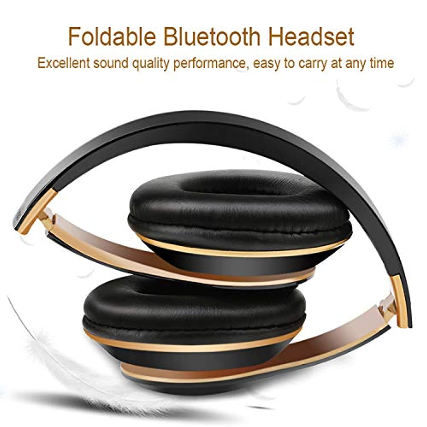 Foldable headphones, Bluetooth earphones, over ear headphones