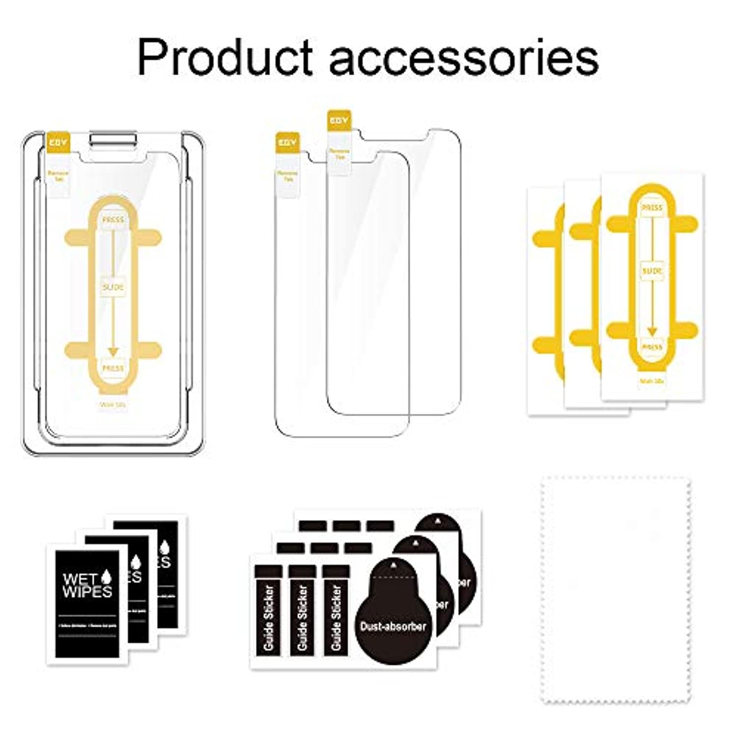 "EGV Screen Protector compatible with iPhone 12 / iPhone 12 Pro 5G (6.1"") [3 Pack] - smrt-life.com"