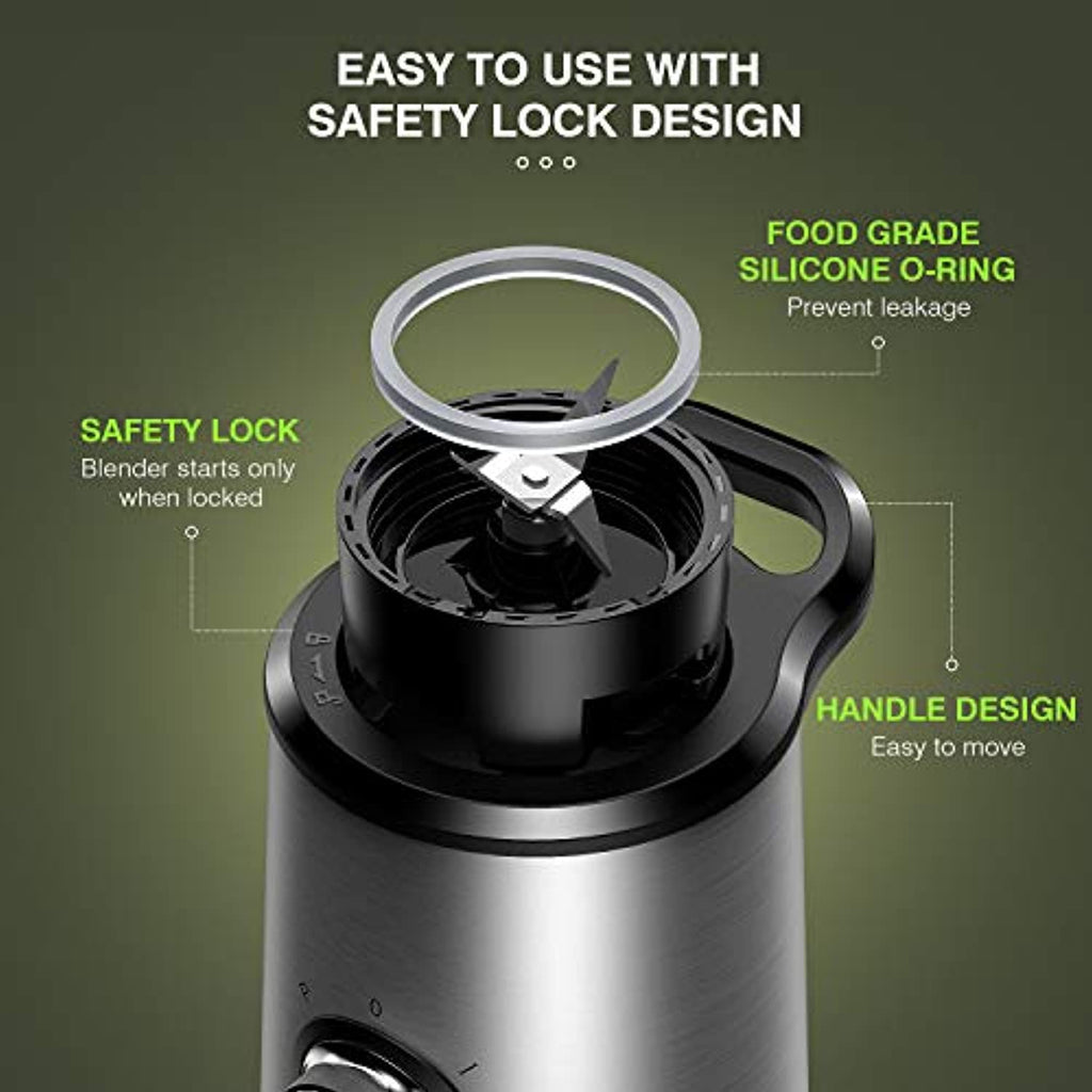 Portable Stainless Steel Blender, 3 Modes - smrt-life.com
