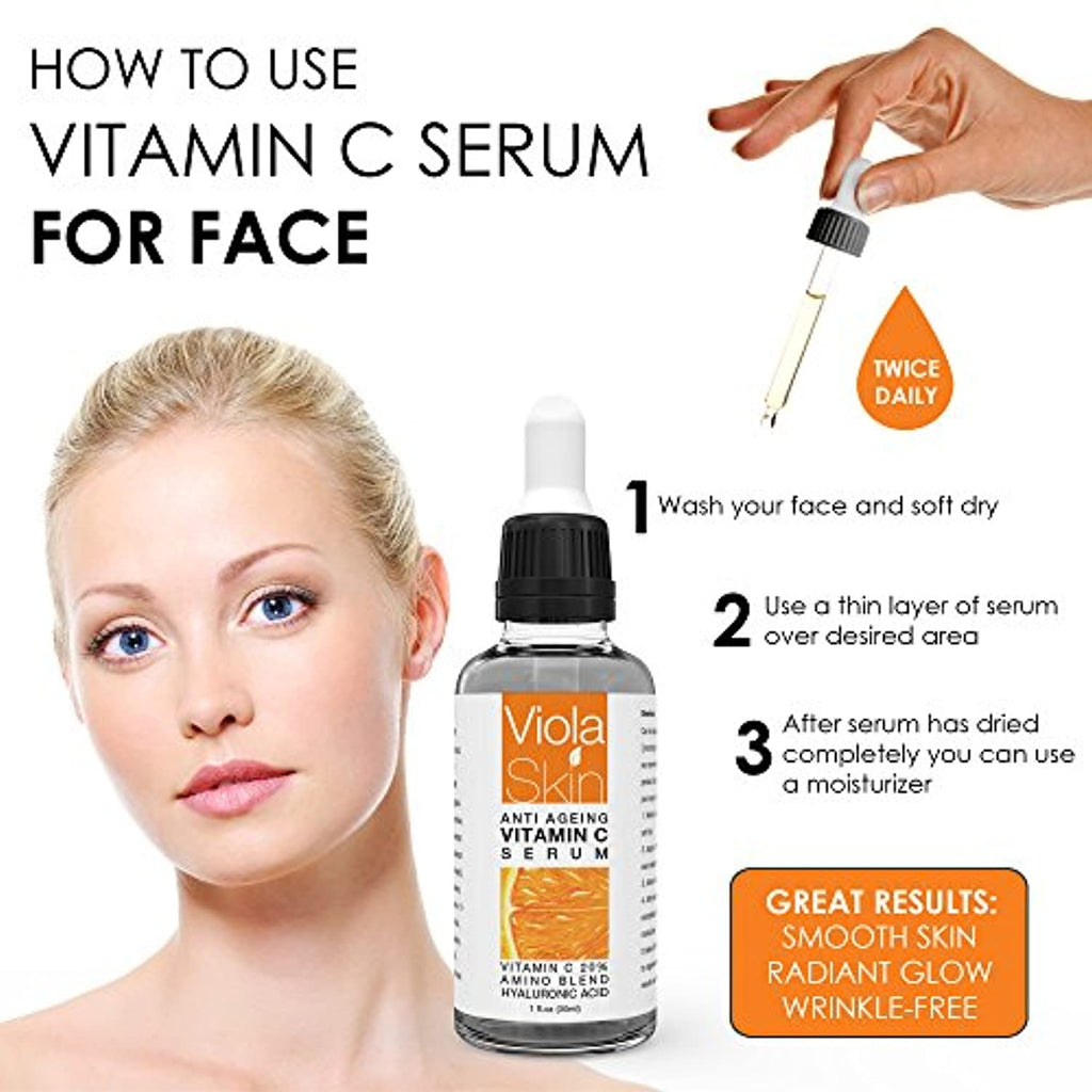 Vitamin C Serum For Face with Hyaluronic Acid Serum