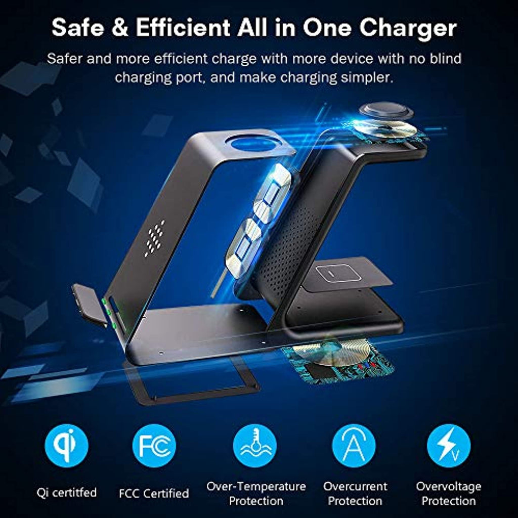 3 in 1 Wireless Charging Station Stand Dock for iPhone