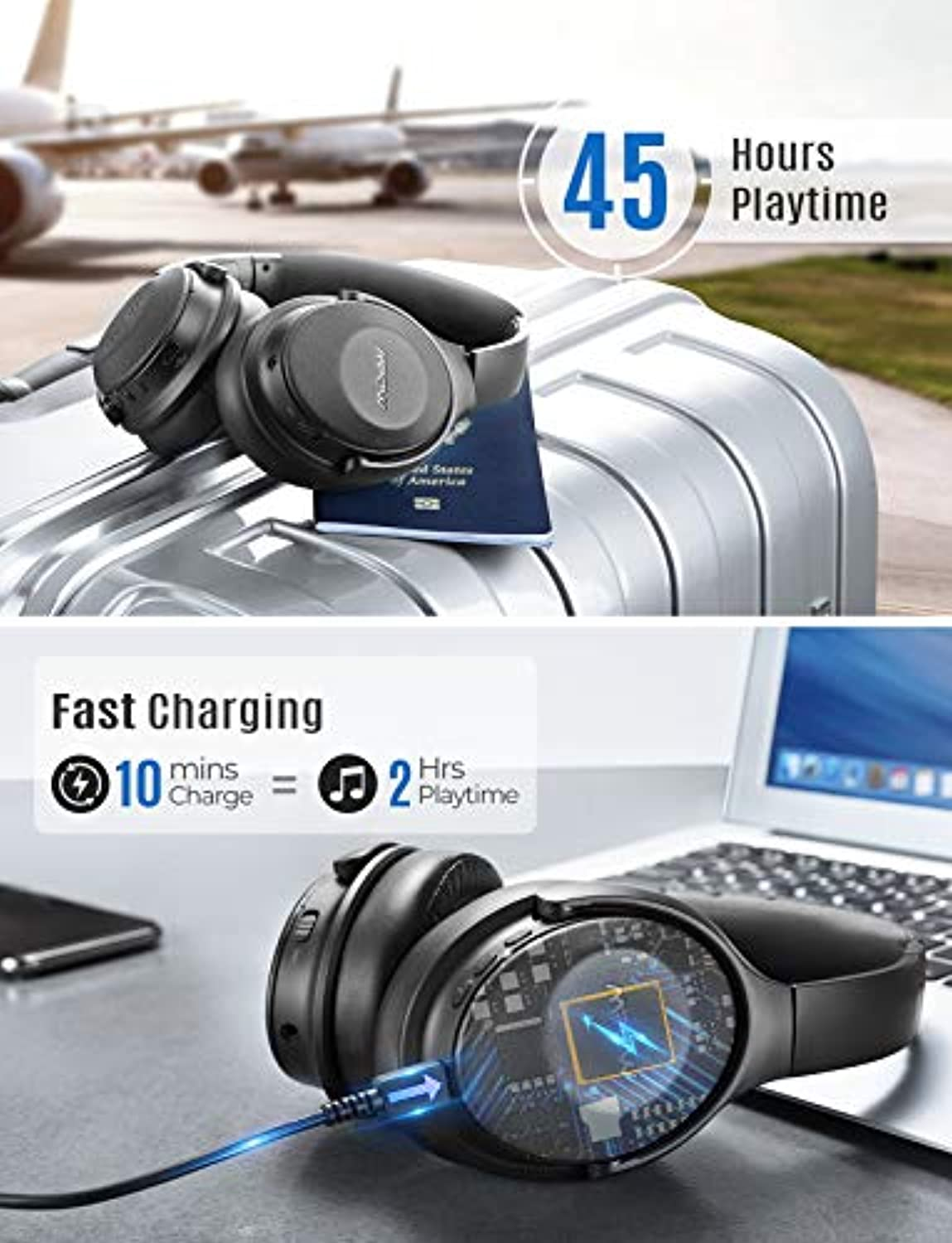 Mpow BH381 Bluetooth Wireless Over-Ear Headphones - smrt-life.com