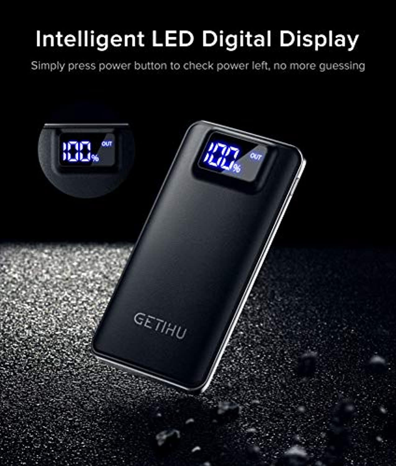 Power Bank LED Display 10000mAh - smrt-life.com