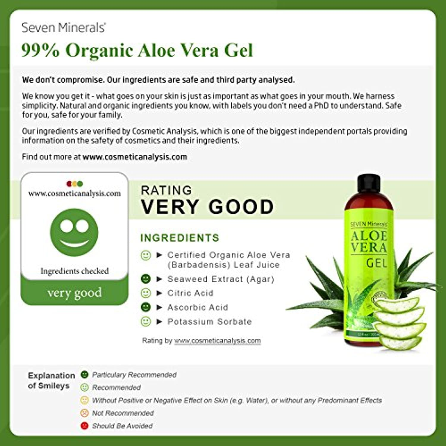 Organic Aloe Vera Gel with 100% Pure Aloe - smrt-life.com