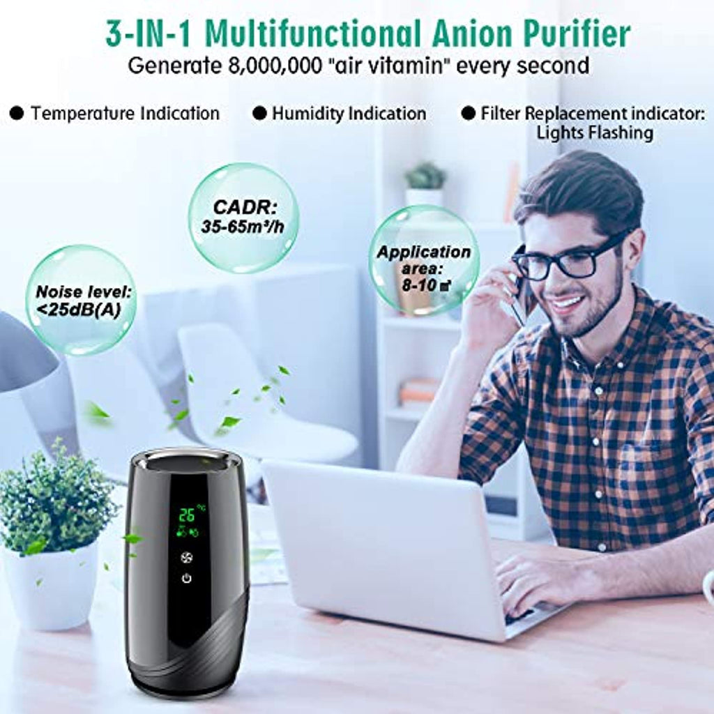 Portable Air Purifier for Home with H13 True HEPA & Active Carbon Filter