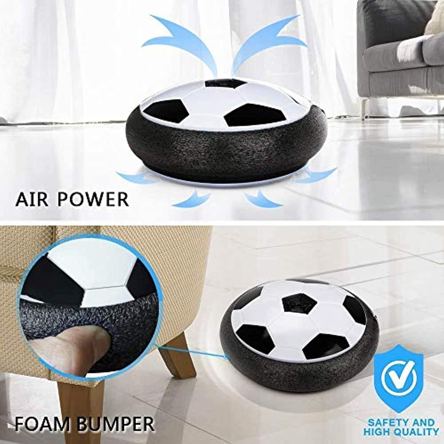 Kids Toys Air Power Soccer Ball Games Indoor Football Gifts - smrt-life.com