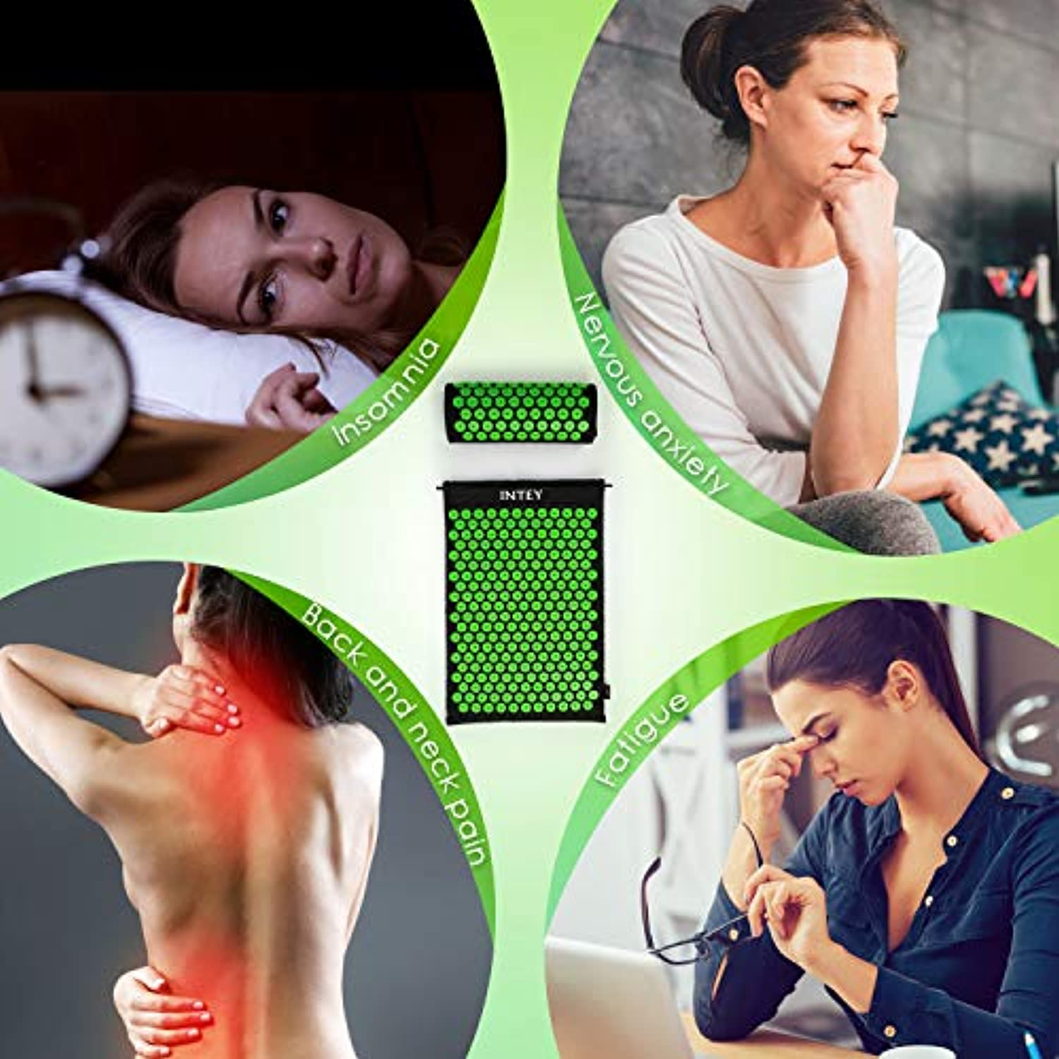 Wellness Therapy Acupuncture Mat Set Helps Release Muscle Pain and Tension - smrt-life.com