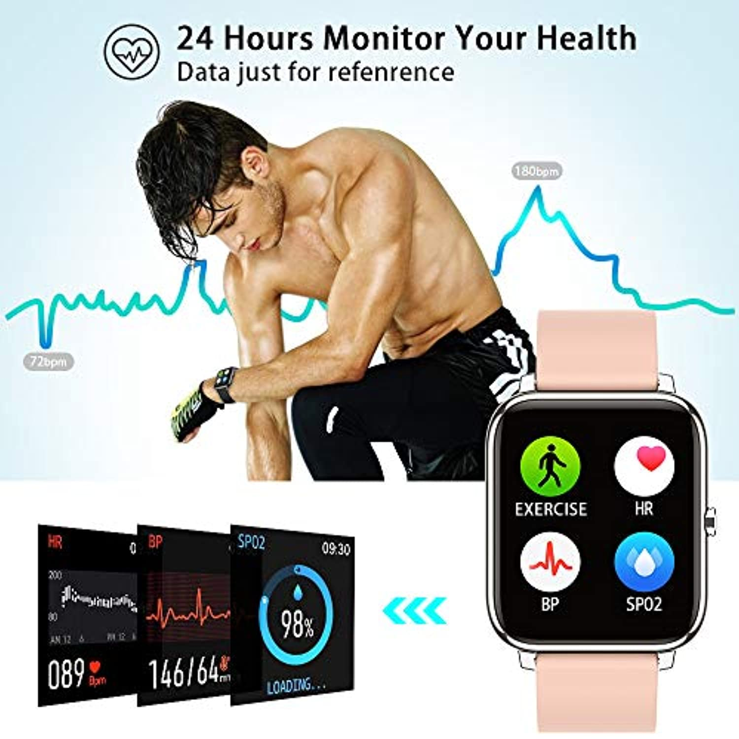 Fitness Tracker with Blood Oxygen & Blood Pressure - smrt-life.com