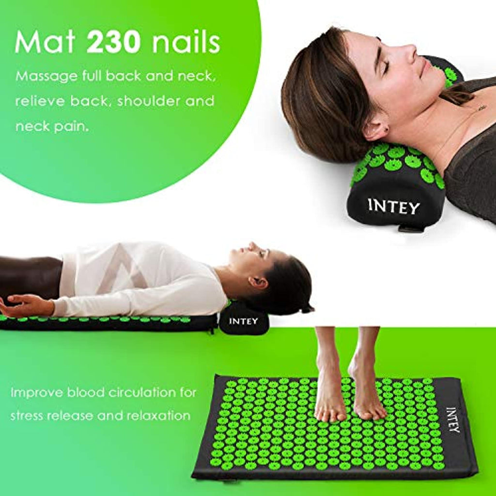 Wellness Therapy Acupuncture Mat Set Helps Release Muscle Pain and Tension