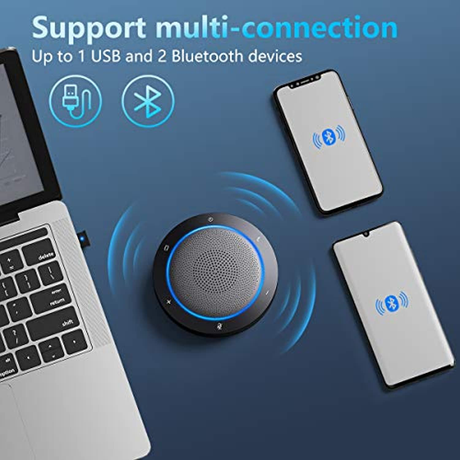 Conference Speakerphone with Noise Reduction Technology - Home Office - smrt-life.com