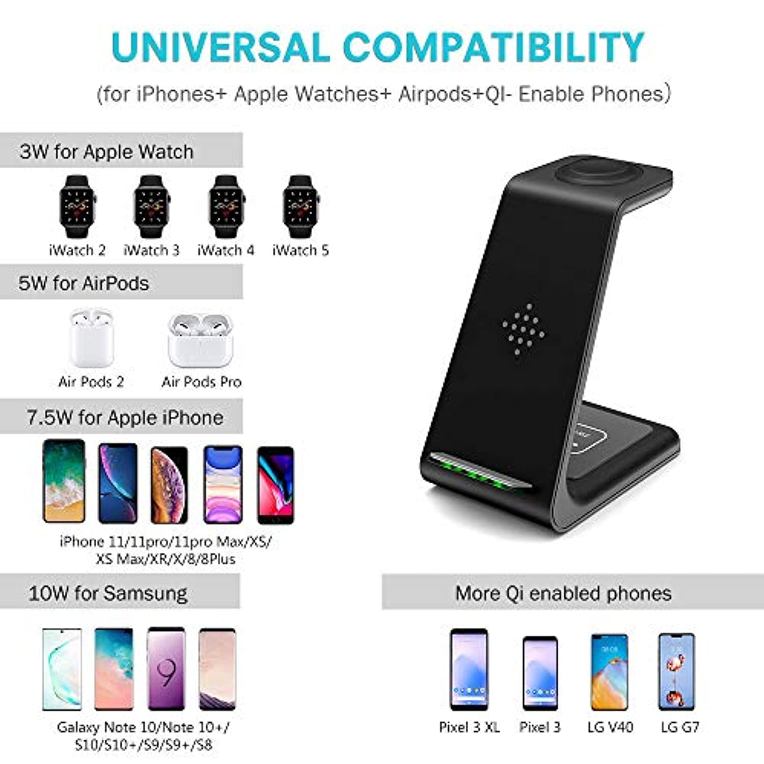 3 in 1 Wireless Charging Station Stand Dock for iPhone - smrt-life.com