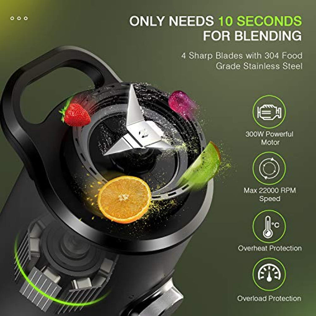 Portable Stainless Steel Blender, 3 Modes