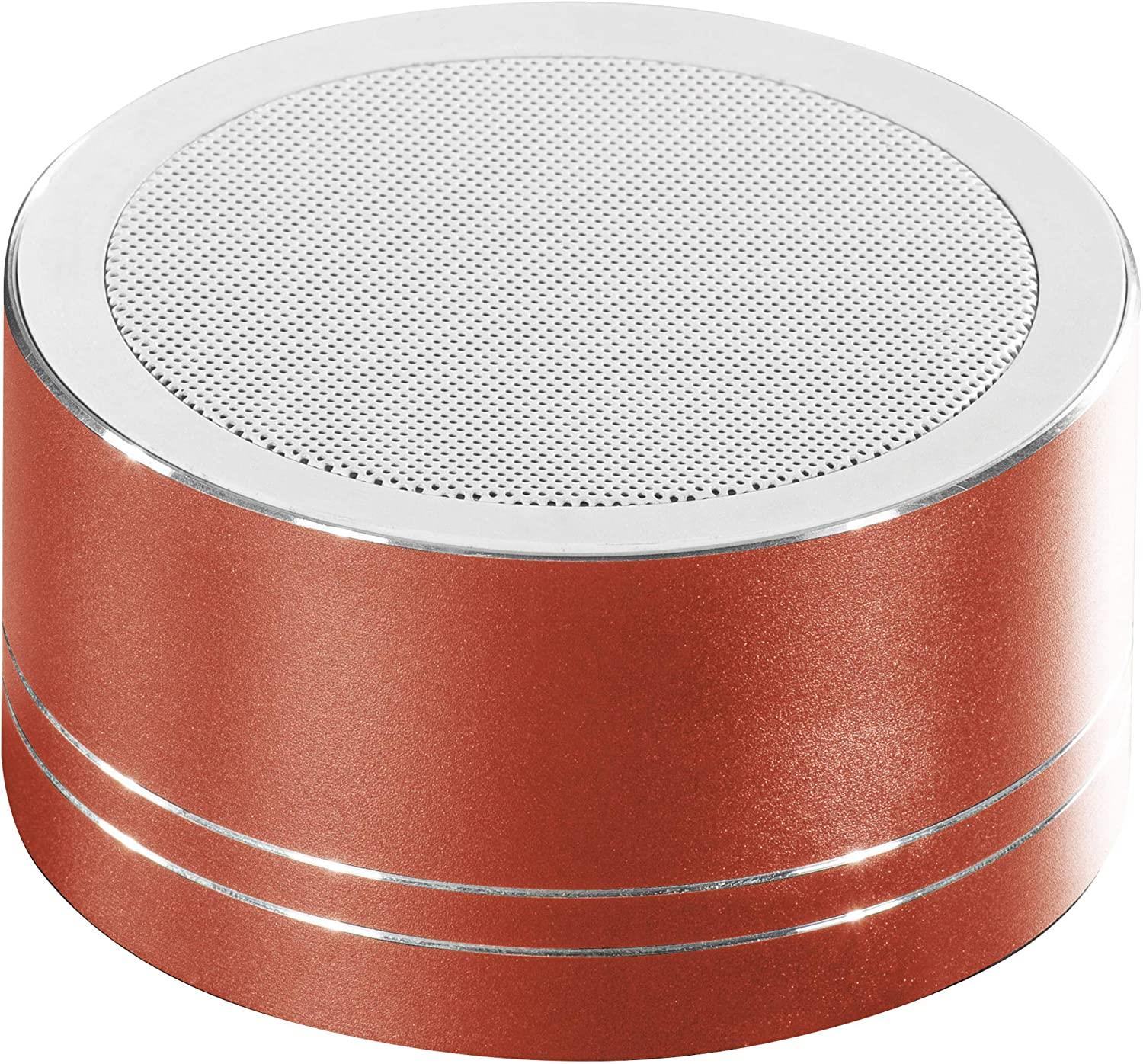 Daewoo Red Cylinder Bluetooth 5W Speaker CVC Echo & Noise Elimination Supports SBC MP3 AAC - smrt-life.com